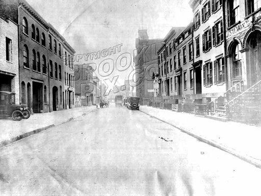 Pacific Street looking east from Clinton Street to Court Street, 1918 Old Vintage Photos and Images