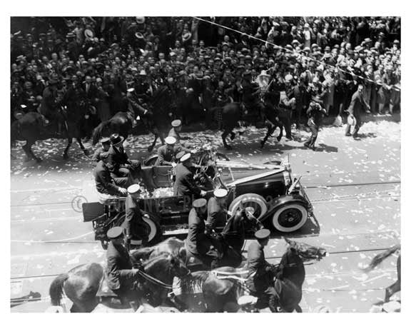 Parade for Charles Lindbergh 1927 Midtown Manhattan NYC Old Vintage Photos and Images