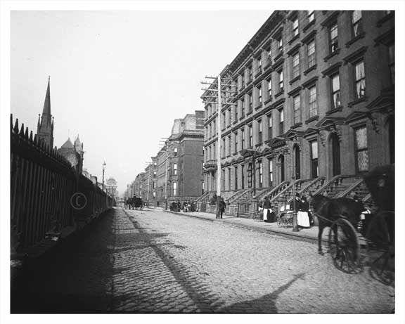 Park Avenue looking north toward East 38th Street 1895 Murray Hill NYC Old Vintage Photos and Images