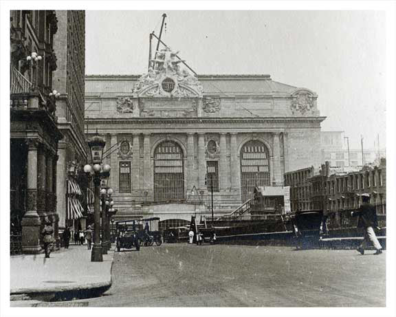 Park Avenue North to Grand Central 1914 Old Vintage Photos and Images