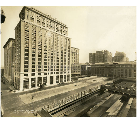Park Lexington Bldg & Grand Central Depot 1923 Old Vintage Photos and Images