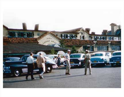 Parking Lot of Lundy Bros Restaurant Sheepshead Bay Brooklyn NY Old Vintage Photos and Images