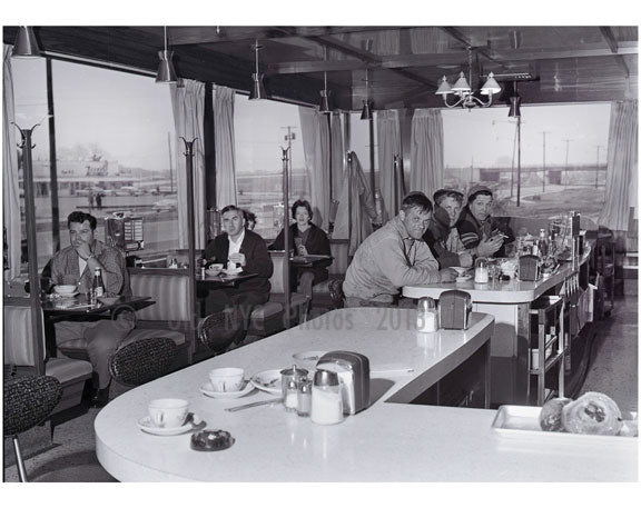 Patrons at Embassy Diner, Hemsptead Tnpk Bethpage 1962 Old Vintage Photos and Images