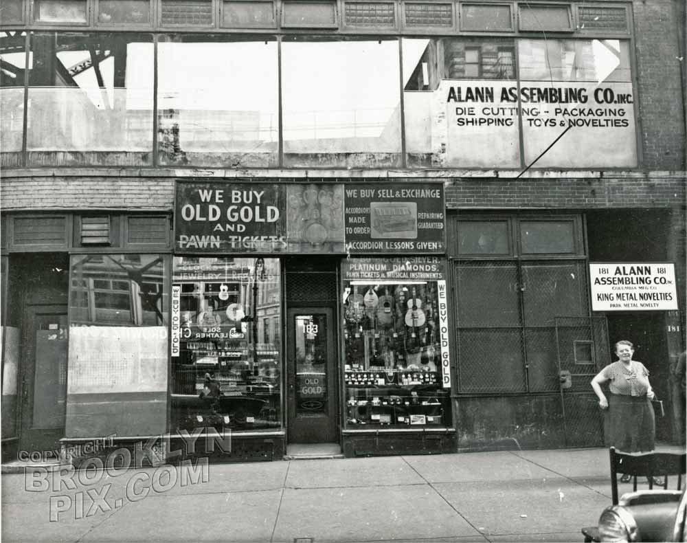 Pawn shop at 183 Chatham Square, 1950 Old Vintage Photos and Images