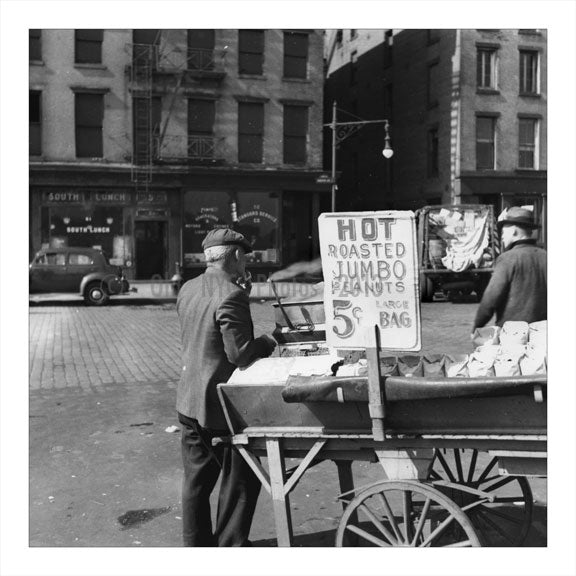 Peanut Vendor Brooklyn NY Old Vintage Photos and Images
