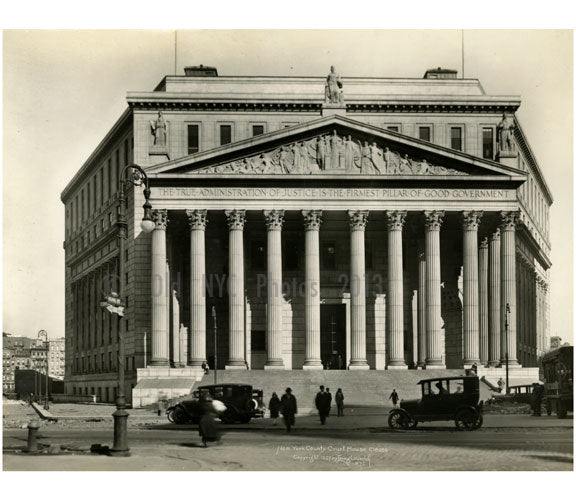 Pearl Street - Courthouse - Foley Square 1927 Old Vintage Photos and Images