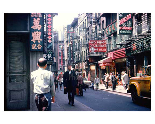 Pell Street - Chinatown 1960s - Downtown Manhattan A Old Vintage Photos and Images