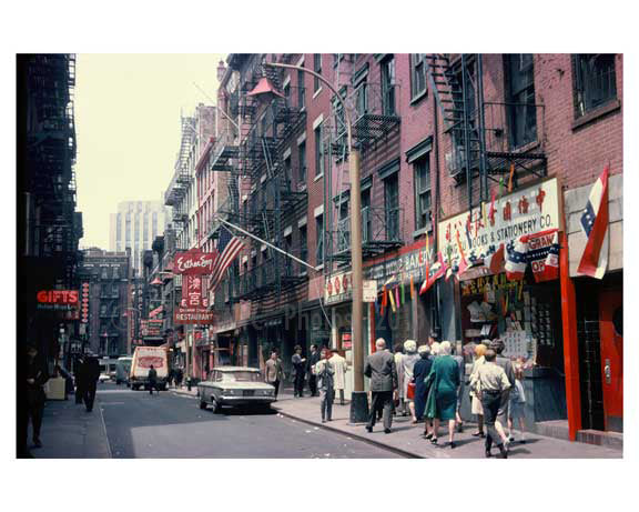 Pell Street - Chinatown 1960s - Downtown Manhattan B Old Vintage Photos and Images