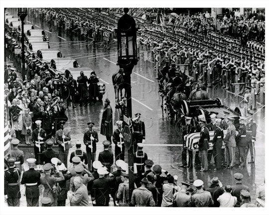 Penn Station & 7th Ave Coffin of General Douglas MacArthur Manhattan NYC 1964 Old Vintage Photos and Images