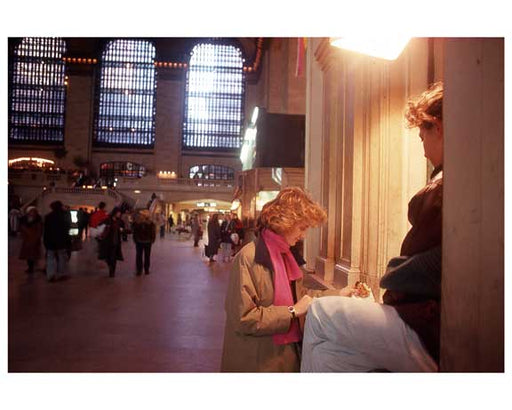 People at the Ticket Counter of Grand Central Station 1988 Old Vintage Photos and Images