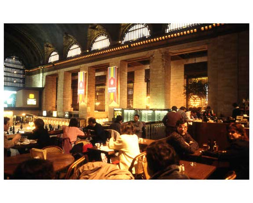 People dining inside of Grand Central Station 1988 Old Vintage Photos and Images