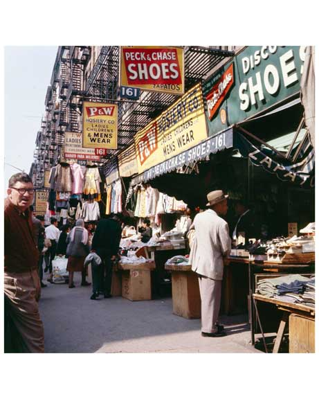 People Shopping on Orchard Street 1964 - Lower East Side  - Manhattan Old Vintage Photos and Images