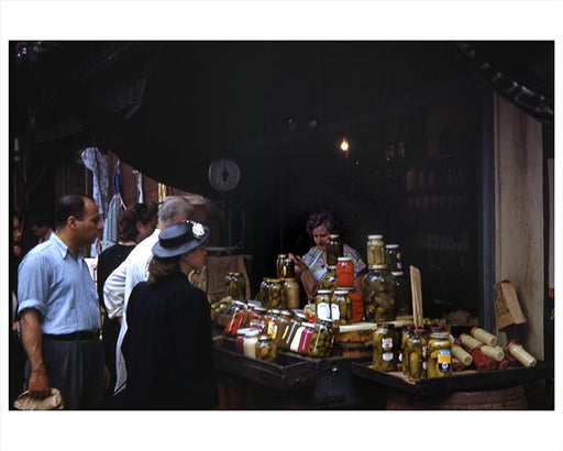 Lower East Side, Pickle Vendor Manhattan 1949 Photos, Images and Pictures