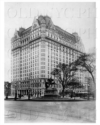 Plaza Hotel 5th Ave Central Park South Manhattan NYC 1913 Old Vintage Photos and Images