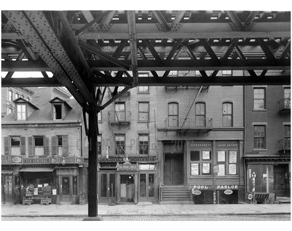 """Pool Parlor"" Bowery - East Side - between 3rd & 4th Streets 1915 Old Vintage Photos and Images"