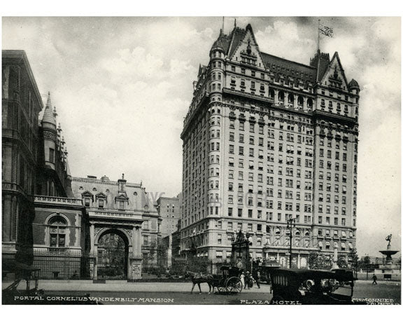 Portal Cornelius Vanderbilt Mansion & The Plaza Hotel Old Vintage Photos and Images
