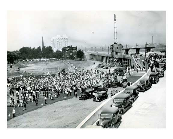 President Roosevelt at the opening of the Triboro bridge  - connecting Manhattan, the Bronx & Queens 1936 Old Vintage Photos and Images