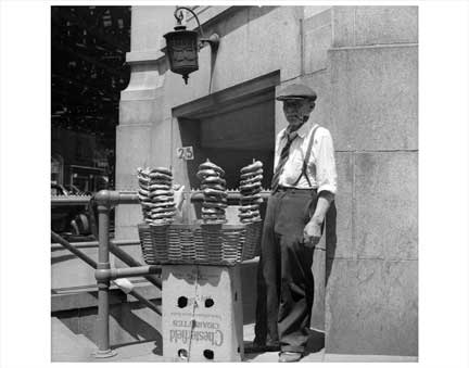 Pretzel Vendor NYNY I Old Vintage Photos and Images