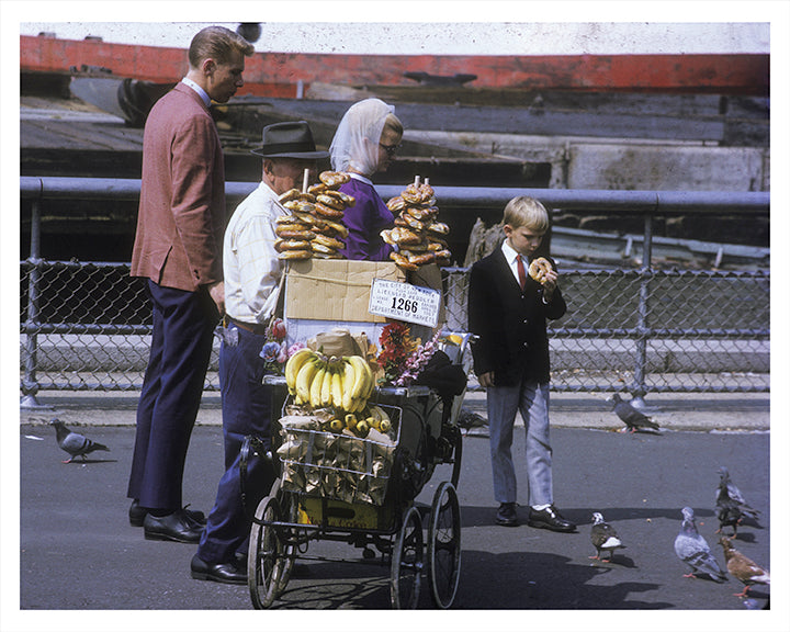 Pretzel Vendor New York City - 1960s