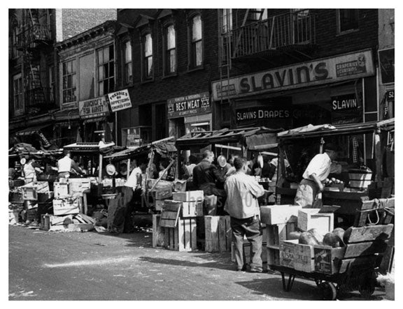 Pushcart Market Brownsville - Brooklyn NY Old Vintage Photos and Images