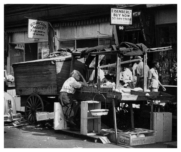 Pushcart Market - Tough Day - Brownsville - Brooklyn NY Old Vintage Photos and Images