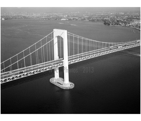 Queens Tower (south) - Throgs Neck Bridge Old Vintage Photos and Images