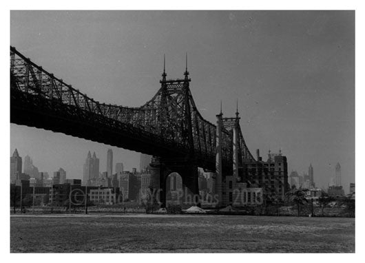 Queensboro 59th Street Bridge 1960's Old Vintage Photos and Images