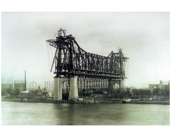 Queensboro  Bridge - 1906 - Long Island City -  Queens, NY Old Vintage Photos and Images