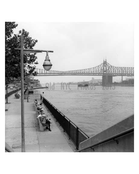 Queensboro Bridge from Manhhattan  -  New York, NY Old Vintage Photos and Images