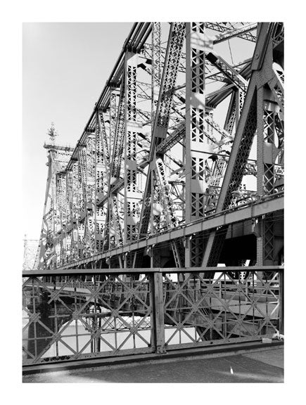 Queensboro Bridge - view of the bridge from the bridge - looking toward Queens Old Vintage Photos and Images