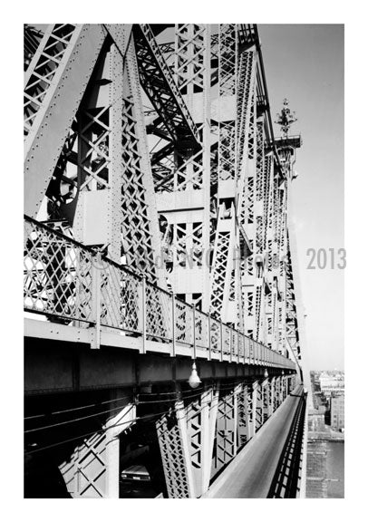 Queensboro bridge - view of the bridge on the bridge Old Vintage Photos and Images