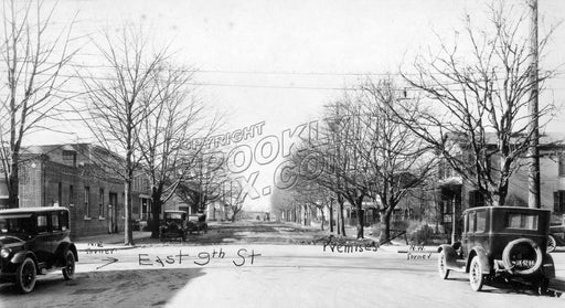 Quentin Road looking west to East 9th Street, 1926 Old Vintage Photos and Images