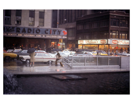 Radio City Music Hall in Rain Old Vintage Photos and Images