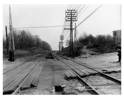 Railroad  tracks 1913 - Rockaway Queens NY Old Vintage Photos and Images