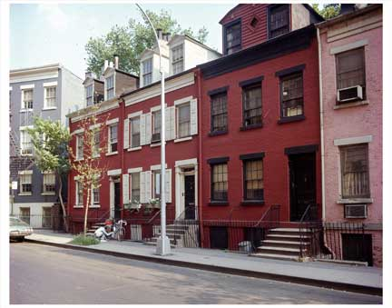Red Houses Greenwich Village Old Vintage Photos and Images