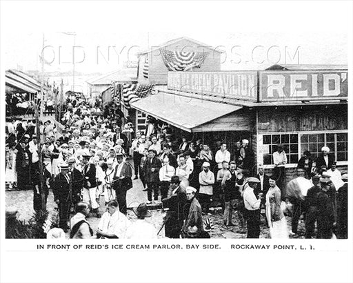 Reid's Ice Cream Parlor - Bay Side Breezy Point Rockaway Point LI Old Vintage Photos and Images