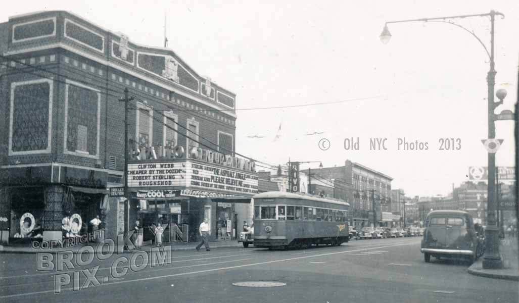 Rialto Theater, Flatbush Avenue at Cortelyou Road, 1950 Old Vintage Photos and Images