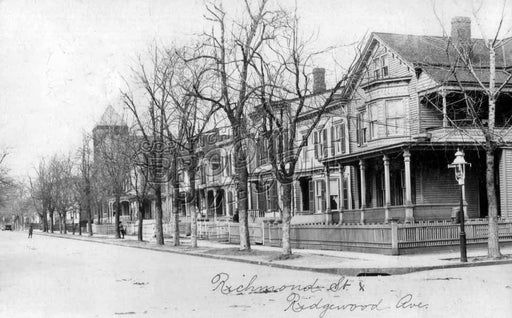 Richmond Street from Ridgewood Avenue, 1912 Old Vintage Photos and Images