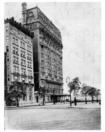 Riverside Drive & 72nd St Chatsworth Building Manhattan NYC 1900 Old Vintage Photos and Images