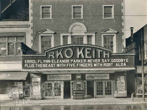 RKO Kenmore, Church Avenue, west of Flatbush Avenue, 1947 Old Vintage Photos and Images