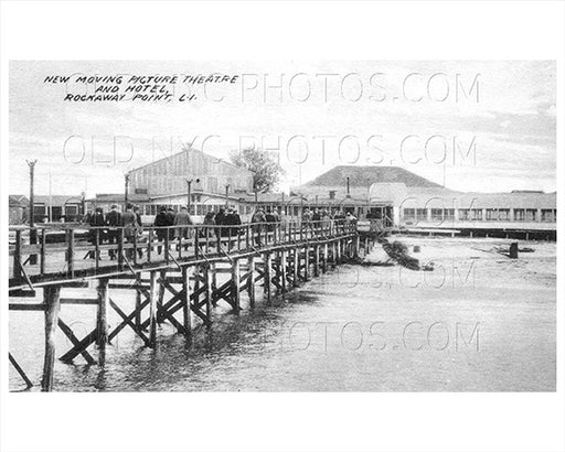 Rockaway Point Breezy Point LI Theater & Hotel 1915 Old Vintage Photos and Images