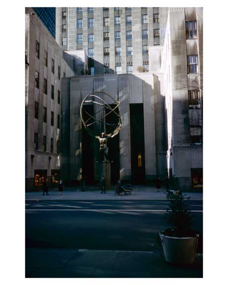 Rockefeller Center November 1959   -  New York, NY Old Vintage Photos and Images