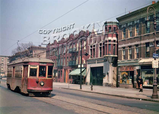 Rogers Avenue looking north from Midwood Street, 1947 Old Vintage Photos and Images