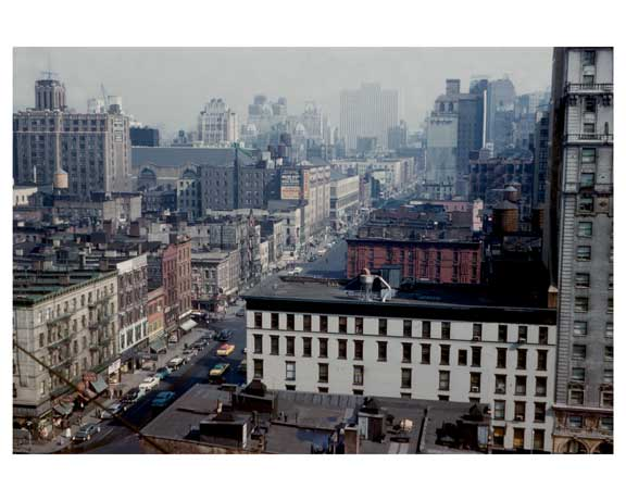 Rooftop view of Manhattan 1955   -  New York, NY Old Vintage Photos and Images
