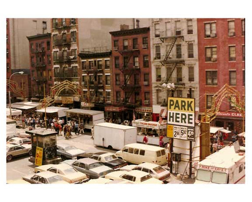 Rooftop view of Mott Street 1970  Downtown Manhattan Old Vintage Photos and Images