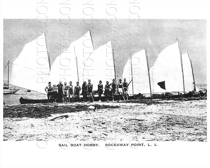 Sail Boat Hobby Breezy Point Rockaway Point LI Old Vintage Photos and Images