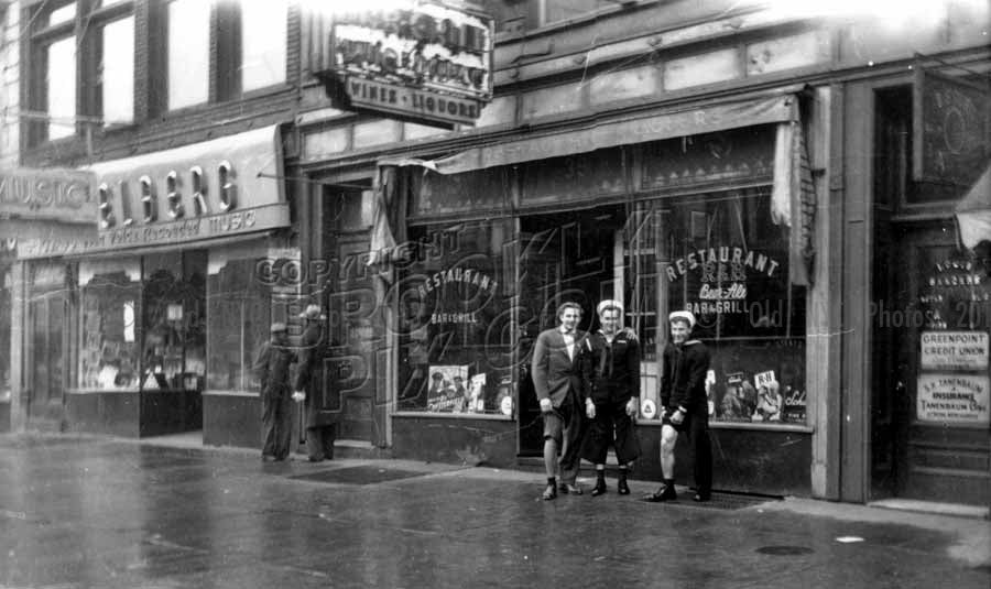Sailors at 39 Graham Avenue, World War II era Old Vintage Photos and Images