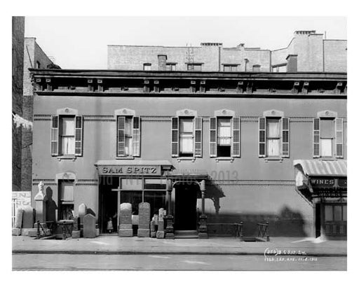 """Sam Spitz"" 1766 Lexington Avenue & 110th Street 1911 - Upper East Side, Manhattan - NYC I Old Vintage Photos and Images"