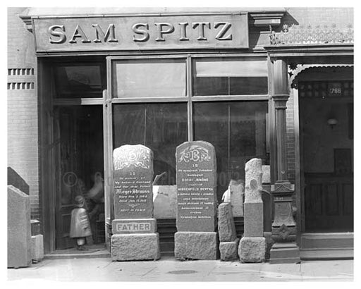 """Sam Spitz"" 1766 Lexington Avenue & 110th Street 1911 - Upper East Side, Manhattan - NYC II Old Vintage Photos and Images"