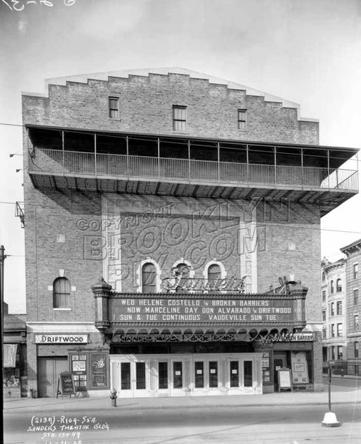 Sanders Theater, now the Pavillion, at Bartel-Pritchard Square, 1928 Old Vintage Photos and Images